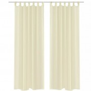 vidaXL Cream Sheer Curtain 140 x 175 cm 2 pcs