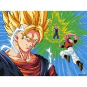 vegeto vs buu sticker poster dragon ball z poster anime poster size:12x18 inch multicolor