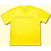 Sárga pamut póló - felnőtt méretben is