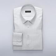 Tailor Store Vit/Mörkblåprickig poplinskjorta