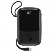 Baterie externa Baseus Q pow Digital Display 3A 10000mAh 2x USB / USB Typ C Neagra