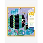 DJECO Cartas para raspar «Pequenos insetos», da DJECO bege medio liso com motivo