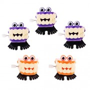Phenovo 5X Wind Up Clockwork Chattering Teeth with Eyes Chomping Tooth Pocket Toy