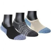 Neska Moda Women 3 Pairs Terry Cotton Multicolor No Show Socks S917