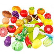 Outflower Fun Cutting Fruits And Vegetables Set Children's Games Kitchen Toys Simulation Cut Fruit Set