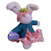 Bunnies Parade Bunny Rabbit Stuffed Animal Green Coat