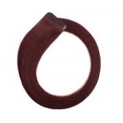 Rapunzel® Hair extensions Quick & Easy Original Glatt 6.12 Dark Mahogany Brown 40 cm