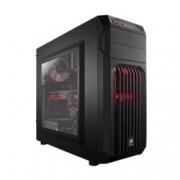 Кутия Corsair Carbide Series SPEC-01 Red LED, Mini-ITX/MicroATX/ATX , 1x USB 2.0, 1x USB 3.0, гейминг, черна , без захранване, по поръчка