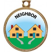 Neighbor Award, 1 inch dia Gold Medal 'Serving Others Collection' by Keepsake Awards