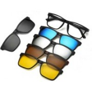 REACTR Rectangular, Retro Square, Aviator, Spectacle Sunglasses(Black, Brown, Yellow, Clear, Blue)