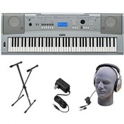 Yamaha DGX230 76-Key Digital Piano Pack with Stand Power Supply and Headphones