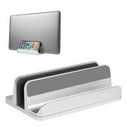 S09 Vertical Laptop Aluminum Bracket Base - Light Grey
