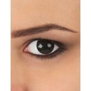 Lentillas fantasia ojo negro 1 año adulto Única