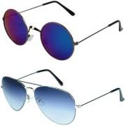 Zyaden Combo of Round And Aviator Sunglasses (Combo-162)