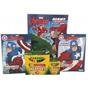 Avengers Giant Coloring Book and Two Avengers Favorite Books To Color Plus 24ct Crayola Crayons and 10ct Crayola...