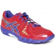 Asics GEL - BLADE 5 - RED/BLUE/RED Badminton Shoes For Men(Red, Blue)