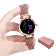 HI 18 1.04-inch Screen Smart Sports Bracelet Heart Rate Female Physiological Reminder for IOS Android - Rose Gold