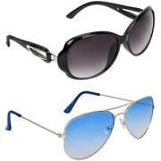 Zyaden Black Oval UV Protection Unisex Sunglasses Combo