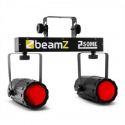 Beamz 2-Some Clear Juego de luces LED RGBW Con micrófono (Sky-153.747)
