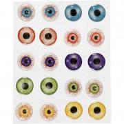 Merkloos Zelfklevende gekleurde 3D hobby ogen/oogjes