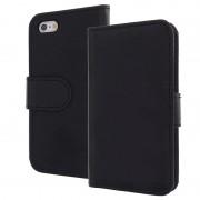 Bolsa em pele tipo livro para iPhone 5 / 5S / SE - Preto