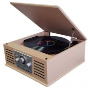 Sunstech Tocadiscos Bluetooth PXR42CD Madera