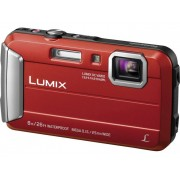 Panasonic DMC-FT30EG-R Digitale camera 16.1 Mpix Zoom optisch: 4 x Rood Onderwatercamera, Vorstbestendig, Spatwaterdicht, Schokbestendig
