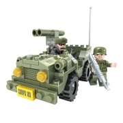 Set constructie masina Army Ausini, 118 piese, 3 ani+