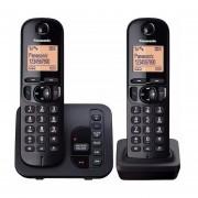 Panasonic Kx-tgc222 Inalámbrico Dual Dect 6.0 Con Contestador-Negro