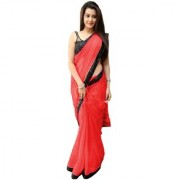 BHAVNA CREATION'S brand new collection of Red Net designer sarees with blouse piece