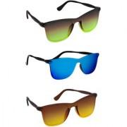 TheWhoop UV Protected Combo Rectangular Sunglasses For Men Women Boys Girls