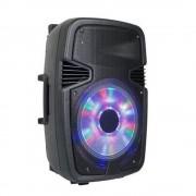 Difuzor bluetooth fără fir alphaone w6 portabil cu lumină de spirit led încorporată - cadou cu microfon wireless + telecomandă!