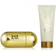 212 Vip by Carolina Herrera Gift Set -- 1.7 oz Eau De Parfum Spray + 3.4 oz Body Lotion for Women