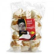 DeliSnacks kauwknoop kip hondensnack - 6 stuks - 8 cm