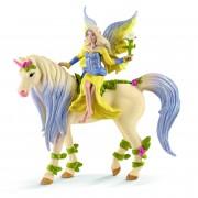 SCHLEICH Sera si Unicornul ei impodobit cu flori Unicorn