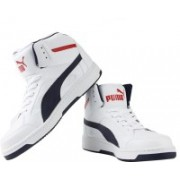 Puma Rebound v.2 Hi Running Shoes For Men(White)