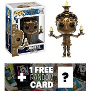 Lumiere: Funko POP! x Beauty & The Beast Vinyl Figure + 1 FREE Classic Disney Trading Card Bundle (123198)