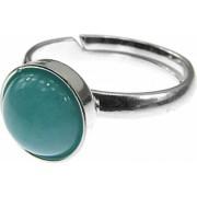 Inel argint reglabil cu amazonit natural 8 MM GlamBazaar Reglabila cu Amazonit Bleu tip inel reglabil de argint 925 cu pietre