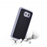 Case Para Celulares, TPU Antigravedad Mágico Nano Pegajosa Del Caso Para Samsung Galaxy S6 Edge (Blanco)