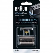 Folija i blok s oštricama za brijaći aparat 51B Braun 8000 crna, 1 set