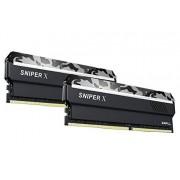 G.Skill F4-2400C17D-16GSX Sniper X Series 16GB (2 x 8GB) 288-Pin PC4-19200 / DDR4 2400 MHz Memoria de computadora Gris