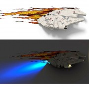 Lampara Star Wars Millennium Falcon Uv Light The Force Awakenes Alcón Milenario Nave-Multicolor