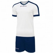 Givova Kit Revolution Voetbalshirt met Shorts wit navy - wit - Size: Large