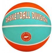 New Port Mini Basketbal Met Print Oranje/Blauw Maat 3
