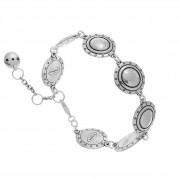 Shabada Bracelet ronds et motifs aztèques (argenté), Shabada Shabada
