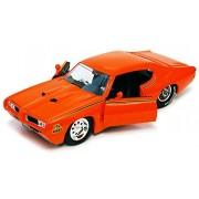 1969 Pontiac Gto Judge, Orange Jada Toys Bigtime Muscle 90217 1/24 Scale Diecast Model Toy Car
