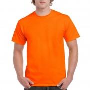 Gildan Fel oranje shirt voor volwassenen