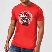 Nintendo Camiseta Navidad Nintendo Super Mario Mario Corona Blanca - Hombre/Mujer - Rojo - S - Rojo