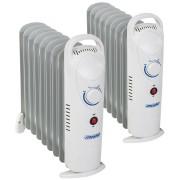2x Calorifere Radiatoare cu Ulei Mesko, 9 Elementi si Termostat Reglabil, Putere 1000W, Pachet Promo 2 Bucati