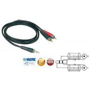 Cablu Audio 2xRCA Tata la Jack Stereo 3.5mm Klotz AY7 0300 3m